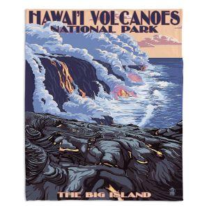 Decorative Fleece Throw Blankets | Lantern Press - Hawaii Volcanos | Ocean Nature Sea