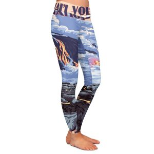 Casual Comfortable Leggings | Lantern Press - Hawaii Volcanos | Ocean Nature Sea