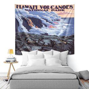 Artistic Wall Tapestry | Lantern Press - Hawaii Volcanos | Ocean Nature Sea