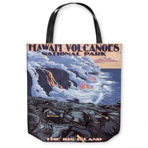 Unique Shoulder Bag Tote Bags | Lantern Press - Hawaii Volcanos | Ocean Nature Sea