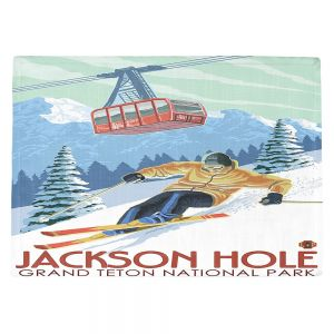 Countertop Place Mats | Lantern Press - Jackson Hole Teton | Ski Snow Winter
