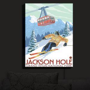 Nightlight Sconce Canvas Light | Lantern Press - Jackson Hole Teton