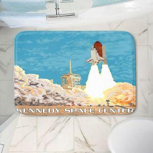 Decorative Bathroom Mats | Lantern Press - Kennedy Space Center | Spaceship Rocket