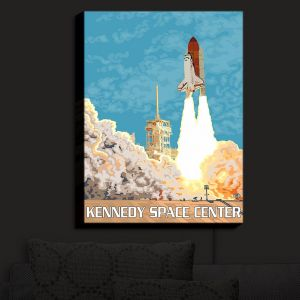 Nightlight Sconce Canvas Light | Lantern Press - Kennedy Space Center
