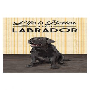 Decorative Floor Coverings | Lantern Press - Labrador Life | Dog Puppy