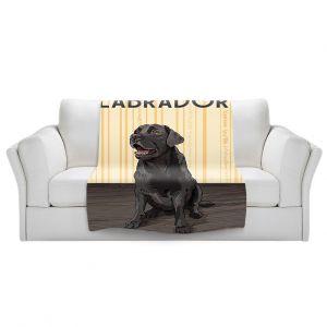 Artistic Sherpa Pile Blankets | Lantern Press - Labrador Life | Dog Puppy