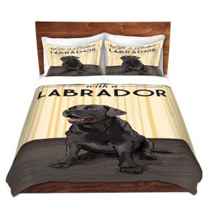 Artistic Duvet Covers and Shams Bedding | Lantern Press - Labrador Life | Dog Puppy