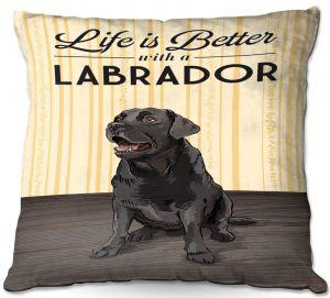 Throw Pillows Decorative Artistic | Lantern Press - Labrador Life | Dog Puppy