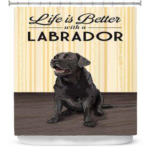 Premium Shower Curtains | Lantern Press - Labrador Life | Dog Puppy