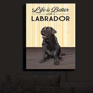 Nightlight Sconce Canvas Light | Lantern Press - Labrador Life