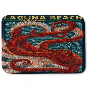 Decorative Bathroom Mats | Lantern Press - Laguna Beach CA | Octopus Nautical Ocean Sea California
