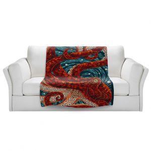 Artistic Sherpa Pile Blankets | Lantern Press - Laguna Beach CA | Octopus Nautical Ocean Sea California