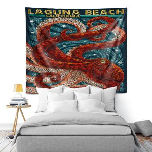 Artistic Wall Tapestry | Lantern Press - Laguna Beach CA | Octopus Nautical Ocean Sea California