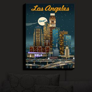 Nightlight Sconce Canvas Light | Lantern Press - Los Angeles Skyline
