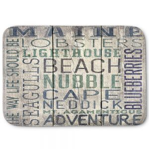 Decorative Bathroom Mats | Lantern Press - Maine Quotes | Typography Word Art