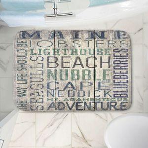 Decorative Bathroom Mats | Lantern Press - Maine Quotes | Typography Word Art