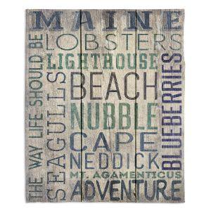 Decorative Fleece Throw Blankets   Lantern Press - Maine Quotes   Typography Word Art