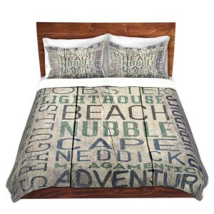 Artistic Duvet Covers and Shams Bedding | Lantern Press - Maine Quotes | Typography Word Art