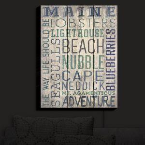 Nightlight Sconce Canvas Light | Lantern Press - Maine Quotes