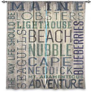 Decorative Window Treatments | Lantern Press - Maine Quotes | Typography Word Art
