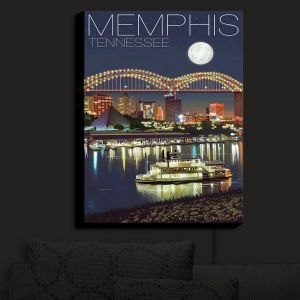 Nightlight Sconce Canvas Light | Lantern Press - Memphis Skyline