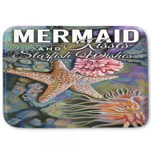 Decorative Bathroom Mats | Lantern Press - Mermaid Starfish