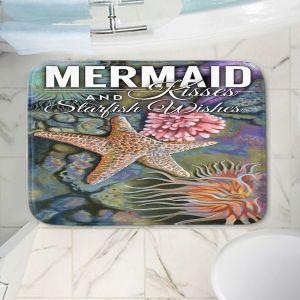 Decorative Bathroom Mats   Lantern Press - Mermaid Starfish