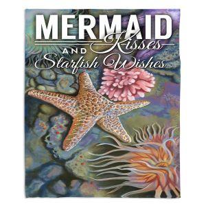 Artistic Sherpa Pile Blankets | Lantern Press - Mermaid Starfish
