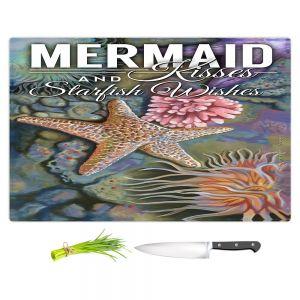 Artistic Kitchen Bar Cutting Boards   Lantern Press - Mermaid Starfish