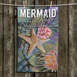 Unique Hanging Tea Towels | Lantern Press - Mermaid Starfish | Starfish Oceanlife