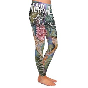 Casual Comfortable Leggings | Lantern Press - Mermaid Starfish