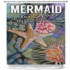 Premium Shower Curtains | Lantern Press - Mermaid Starfish