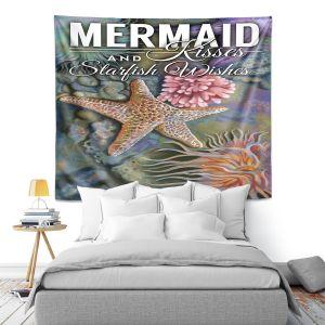 Artistic Wall Tapestry   Lantern Press - Mermaid Starfish
