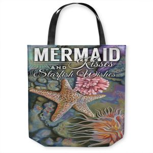 Unique Shoulder Bag Tote Bags | Lantern Press - Mermaid Starfish