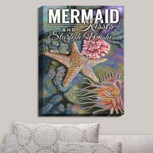 Decorative Canvas Wall Art | Lantern Press - Mermaid Starfish