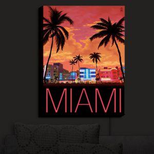 Nightlight Sconce Canvas Light | Lantern Press - Miami Beach