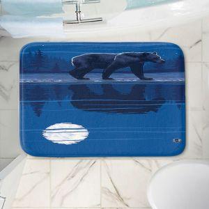 Decorative Bathroom Mats | Lantern Press - Moonlight Bear | Nature Night