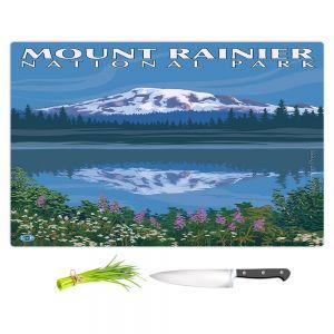 Artistic Kitchen Bar Cutting Boards | Lantern Press - Mount Rainier National Park