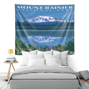 Artistic Wall Tapestry | Lantern Press - Mount Rainier National Park