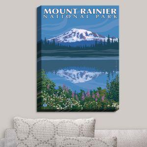 Decorative Canvas Wall Art   Lantern Press - Mount Rainier National Park