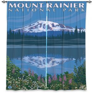 Decorative Window Treatments | Lantern Press - Mount Rainier National Park
