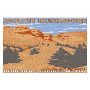 Decorative Floor Coverings | Lantern Press - Mount Rushmore | Monument Mountain Scultpure Presidents