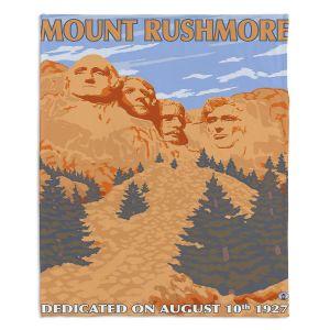 Decorative Fleece Throw Blankets   Lantern Press - Mount Rushmore   Monument Mountain Scultpure Presidents