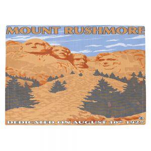 Countertop Place Mats | Lantern Press - Mount Rushmore | Monument Mountain Scultpure Presidents