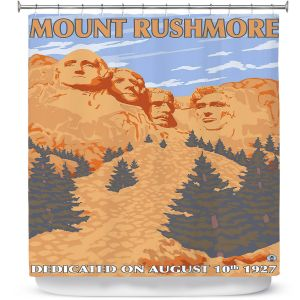 Premium Shower Curtains | Lantern Press - Mount Rushmore | Monument Mountain Scultpure Presidents