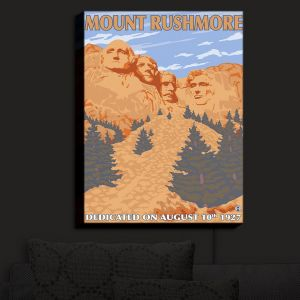 Nightlight Sconce Canvas Light | Lantern Press - Mount Rushmore