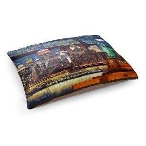 Decorative Dog Pet Beds | Lantern Press - New York City Skyline | Cityscape Downtown Tennessee Night