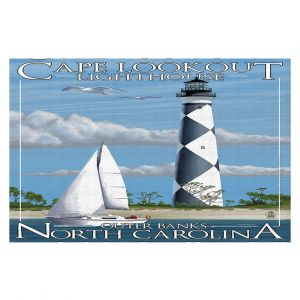 Decorative Floor Coverings | Lantern Press - Outter Banks North Carolina Lighthouse
