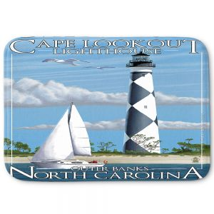Decorative Bathroom Mats | Lantern Press - Outter Banks North Carolina Lighthouse