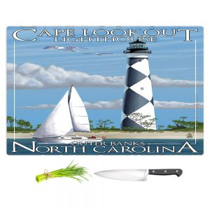 Artistic Kitchen Bar Cutting Boards | Lantern Press - Outer Banks North Carolina Lighthouse